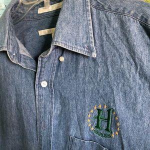vintage denim button up shirt